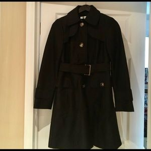 FLASH SALE Kenneth Cole black trench rain coat