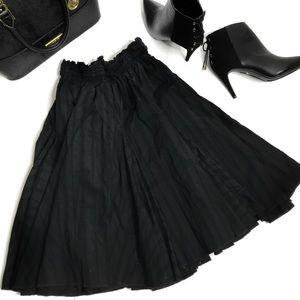 Black Circle Full Midi Skirt 22'Long Size M/L NWOT