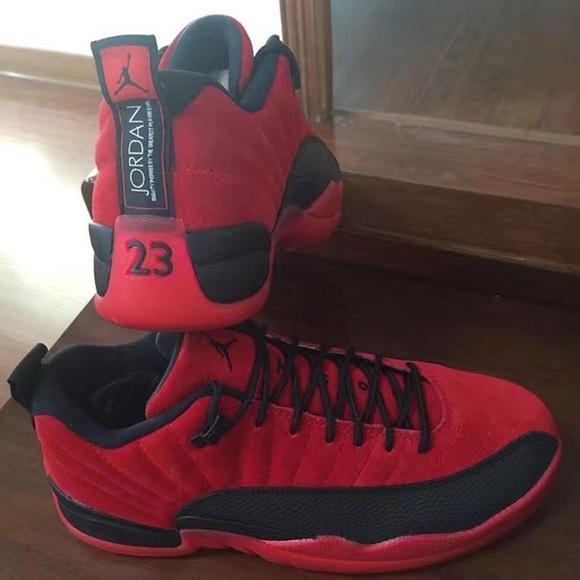 Low top Red Suede 12s. NWT. Jordan 9d7f4f55d