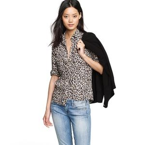 J. Crew Perfect Shirt in Leopard NWT