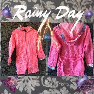 ☔️ Pink Portable Rain Coat Poncho ☔️