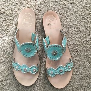 Jack Rogers Lauren Double Strap Blue Sandals