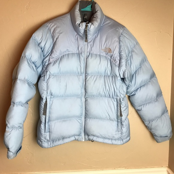 287ad1450 Baby blue ski Puffer zip jacket season 043