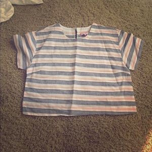 Urban Outfitters Women Top Crop L New Striped