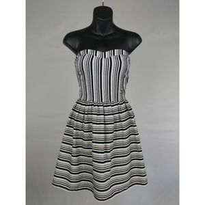 Strapless Striped Dress Small