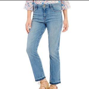 Sanctuary Robbie High Waist Raw Hem Crop Jeans