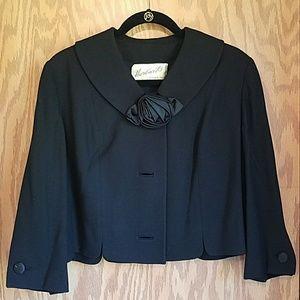 Vintage 3/4 jacket with rose detail costume