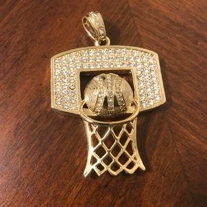 Other - Basketball Hoop Pendant Bling Iced Charm Pendant