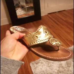 Authentic Jack Rogers gold sandals
