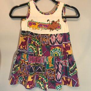 VTG Girls Lion King Dress