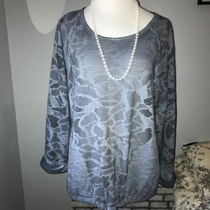 Anthropologie Saturday Sunday perforated pullover