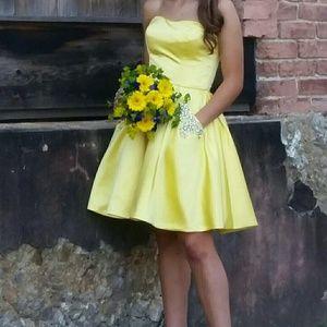 Sherri Hill Yellow Dress