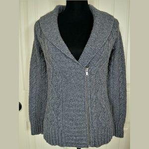 Eddie Bauer Cable Knit Zip Sweater
