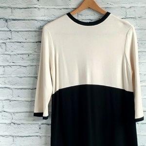 Zara colorblock sweater dress