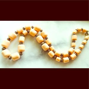 J. Crew Peach Beaded Necklace