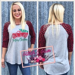 Women's Buffalo plaid merry Christmas shirt