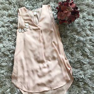 H&M Creped Blouse Tank - Blush