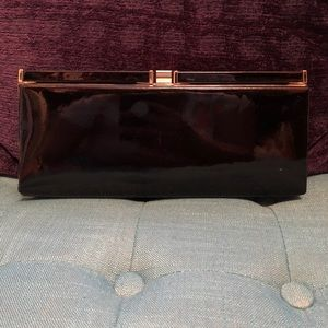 Handbags - Black patent leather clutch