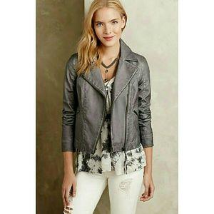 Anthropologie Perfed Vegan Leather Moto Jacket XS