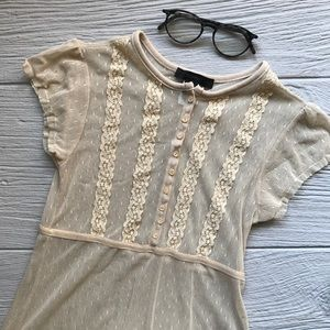 Express Sheer Lace Top
