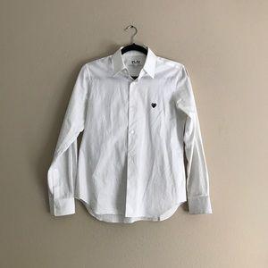 Comme des Garçons CDG Play white logo shirt