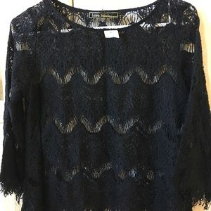 Black top eyelashes lace size Small