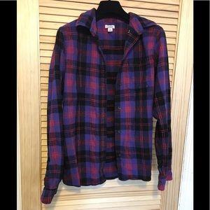 L.L Bean Plaid Flannel Women Shirt Small