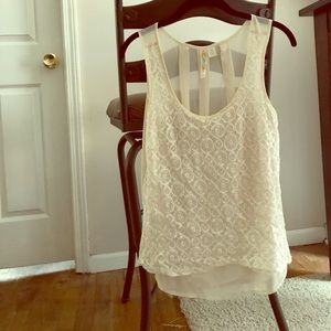 Lace Cream Tanktop