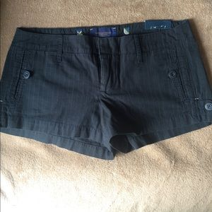 American Eagle blue pinstripe shorts