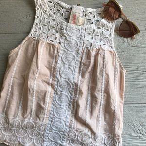 H&M Organic Cotton Crochet Tank