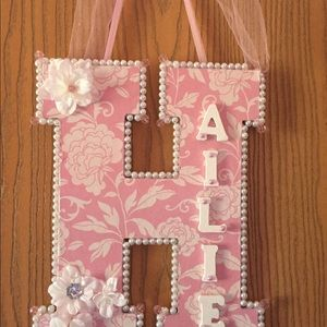 Handmade custom name and letter signs!