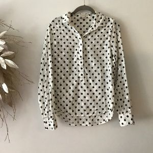 JCrew polka dot top