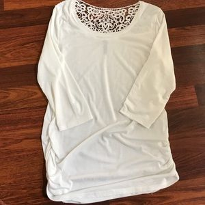 Cream top with lace back
