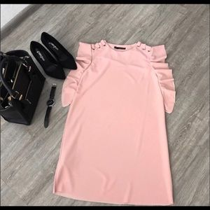 HP 7/12 & 26 Gorgeous Elegant Ruffle Sleeve Dress