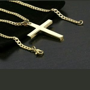 Other - 14K GOLD STAINLESS STEEL CROSS CHAIN