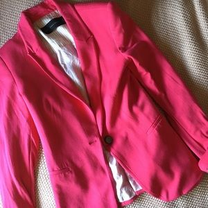 Zara pink long sleeve blazer XS
