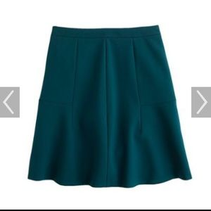 J.Crew fluted skirt in emerald