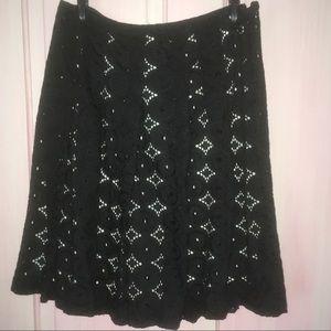 J.Crew black pleated skirt
