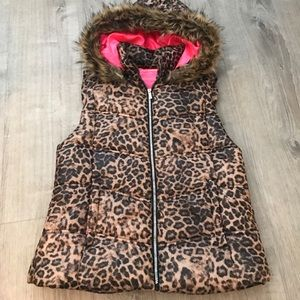 Juicy Couture leopard puffer vest