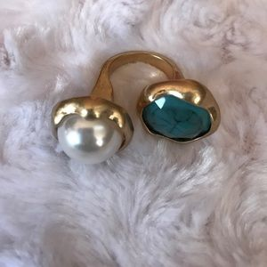 H&M OPEN STONE RING