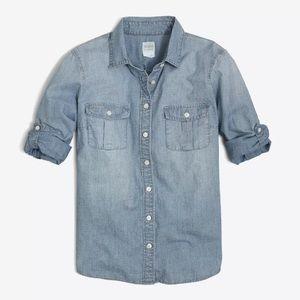 J.Crew Factory Women's Classic Chambray Shirt