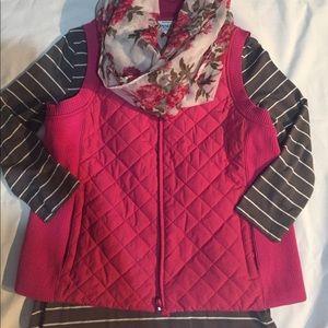 Pendleton, size Medium petite, pink quilted vest