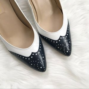 Vintage Navy and White Etienne Aigner Pumps