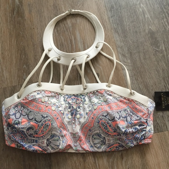 Victoria's Secret Other - NWT Victoria's Secret Paisley High Neck Bikini Top