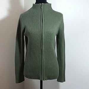 Large Old Navy cable knit sweater, zip up