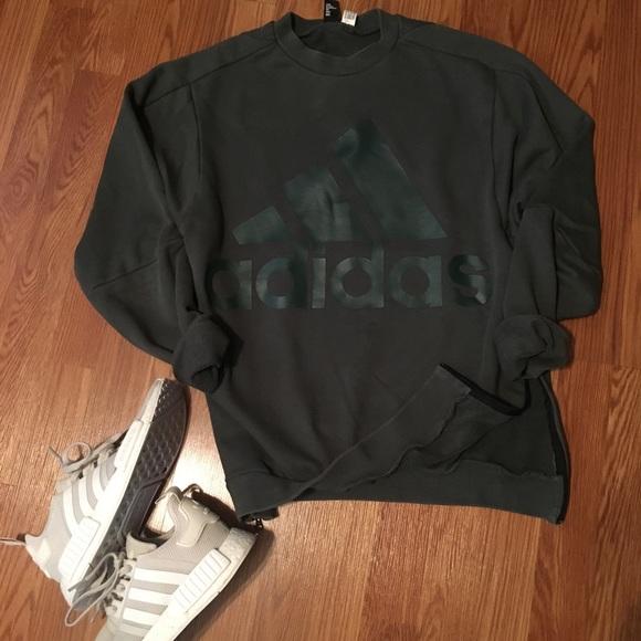 adidas crew neck jacket