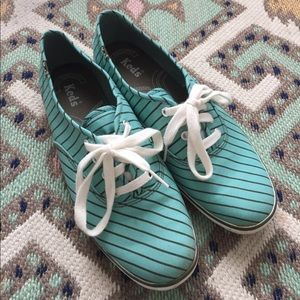 Keds Mint Green Stripe Sneakers