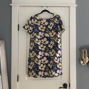 J.Crew floral shift dress