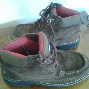 TOMMY HILFIGER BROWN SUEDE LEATHER BOOTS