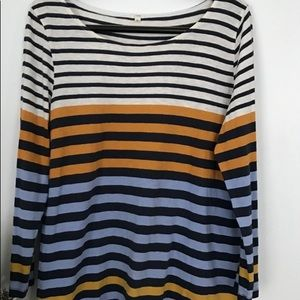 Jcrew boatneck striped top
